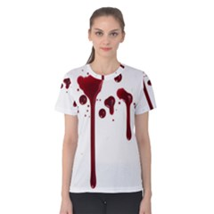 Blood Splatter 4 Women s Cotton Tees