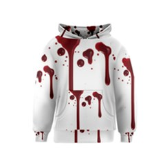Blood Splatter 4 Kid s Pullover Hoodies