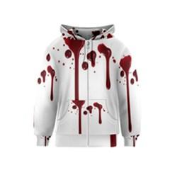 Blood Splatter 4 Kids Zipper Hoodies