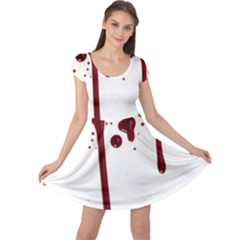 Blood Splatter 4 Cap Sleeve Dresses