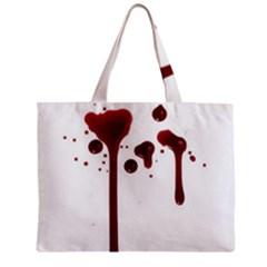 Blood Splatter 4 Zipper Tiny Tote Bags