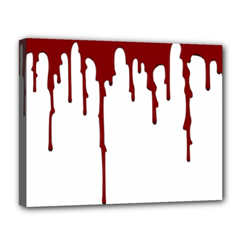 Blood Splatter 5 Canvas 14  x 11
