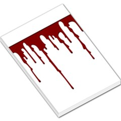 Blood Splatter 5 Large Memo Pads