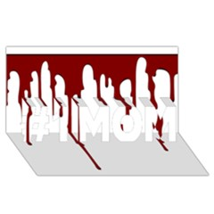 Blood Splatter 5 #1 MOM 3D Greeting Cards (8x4)
