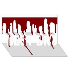 Blood Splatter 5 BEST BRO 3D Greeting Card (8x4)