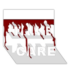 Blood Splatter 5 TAKE CARE 3D Greeting Card (7x5)