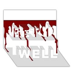 Blood Splatter 5 Get Well 3D Greeting Card (7x5)