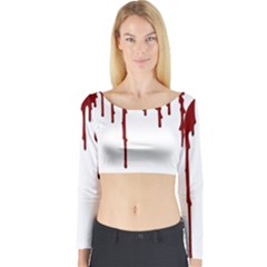 Blood Splatter 5 Long Sleeve Crop Top