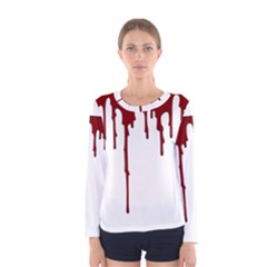Blood Splatter 5 Women s Long Sleeve T-shirts