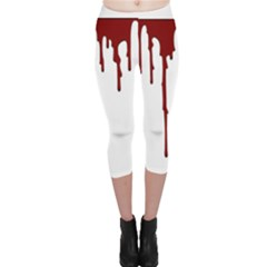 Blood Splatter 5 Capri Leggings