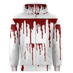 Blood Splatter 5 Men s Zipper Hoodies