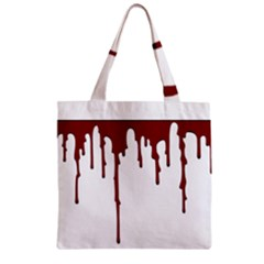 Blood Splatter 5 Zipper Grocery Tote Bags