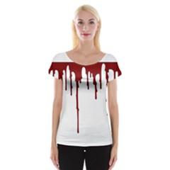Blood Splatter 5 Women s Cap Sleeve Top