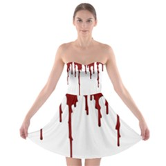 Blood Splatter 5 Strapless Bra Top Dress