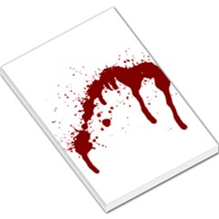 Blood Splatter 6 Large Memo Pads