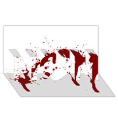 Blood Splatter 6 MOM 3D Greeting Card (8x4)