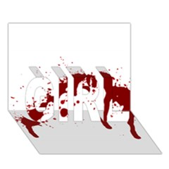 Blood Splatter 6 GIRL 3D Greeting Card (7x5)