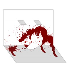 Blood Splatter 6 Heart 3D Greeting Card (7x5)