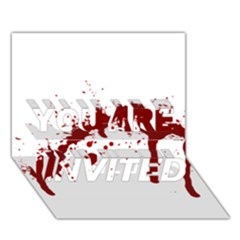 Blood Splatter 6 YOU ARE INVITED 3D Greeting Card (7x5)