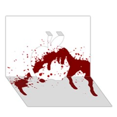 Blood Splatter 6 Apple 3D Greeting Card (7x5)