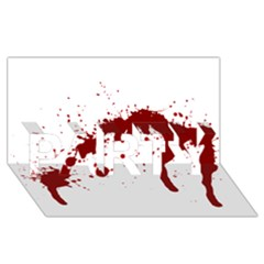 Blood Splatter 6 Party 3d Greeting Card (8x4)
