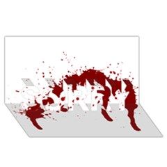 Blood Splatter 6 SORRY 3D Greeting Card (8x4)