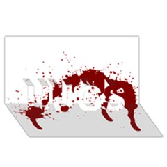 Blood Splatter 6 HUGS 3D Greeting Card (8x4)