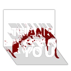Blood Splatter 6 THANK YOU 3D Greeting Card (7x5)