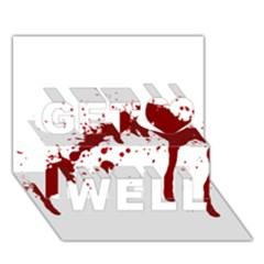 Blood Splatter 6 Get Well 3D Greeting Card (7x5)