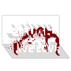 Blood Splatter 6 Laugh Live Love 3D Greeting Card (8x4)