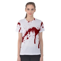 Blood Splatter 6 Women s Cotton Tees