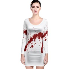 Blood Splatter 6 Long Sleeve Bodycon Dresses