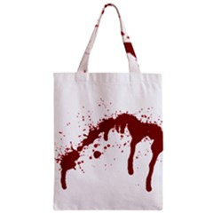 Blood Splatter 6 Zipper Classic Tote Bags