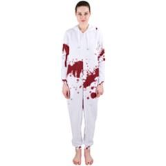 Blood Splatter 6 Hooded Jumpsuit (Ladies)