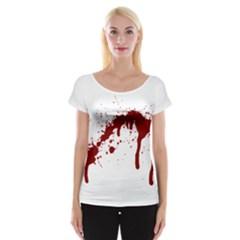 Blood Splatter 6 Women s Cap Sleeve Top