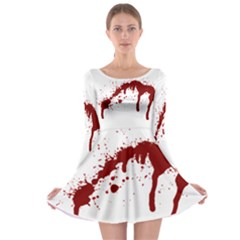 Blood Splatter 6 Long Sleeve Skater Dress