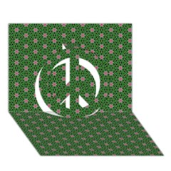 Cute Seamless Tile Pattern Gifts Peace Sign 3d Greeting Card (7x5)