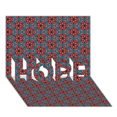 Cute Seamless Tile Pattern Gifts HOPE 3D Greeting Card (7x5)