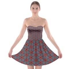 Cute Seamless Tile Pattern Gifts Strapless Bra Top Dress