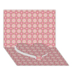 Cute Seamless Tile Pattern Gifts Heart Bottom 3d Greeting Card (7x5)