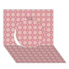 Cute Seamless Tile Pattern Gifts Circle 3d Greeting Card (7x5)