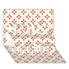 Cute Seamless Tile Pattern Gifts You Did It 3D Greeting Card (7x5)