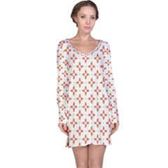 Cute Seamless Tile Pattern Gifts Long Sleeve Nightdresses