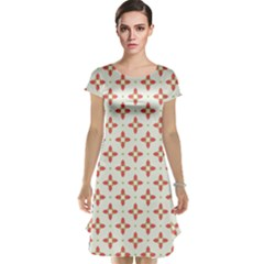 Cute Seamless Tile Pattern Gifts Cap Sleeve Nightdresses