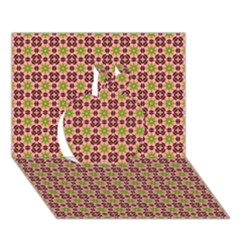 Cute Seamless Tile Pattern Gifts Apple 3D Greeting Card (7x5)