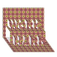 Cute Seamless Tile Pattern Gifts Work Hard 3d Greeting Card (7x5)