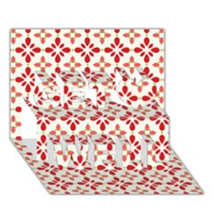 Cute Seamless Tile Pattern Gifts Get Well 3d Greeting Card (7x5)