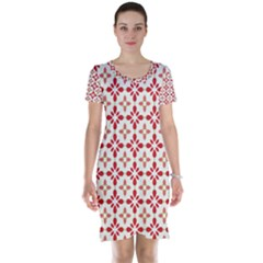 Cute Seamless Tile Pattern Gifts Short Sleeve Nightdresses