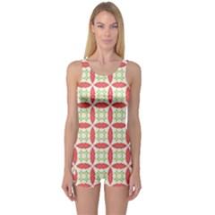 Cute Seamless Tile Pattern Gifts Women s Boyleg One Piece Swimsuits
