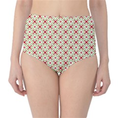 Cute Seamless Tile Pattern Gifts High-Waist Bikini Bottoms